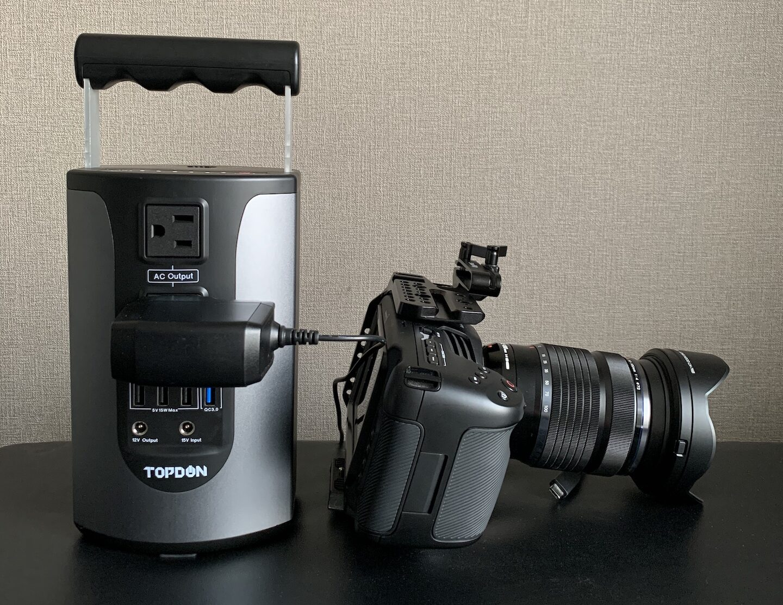 BMPCC4Kにポータブル電源を接続した場合の連続撮影時間