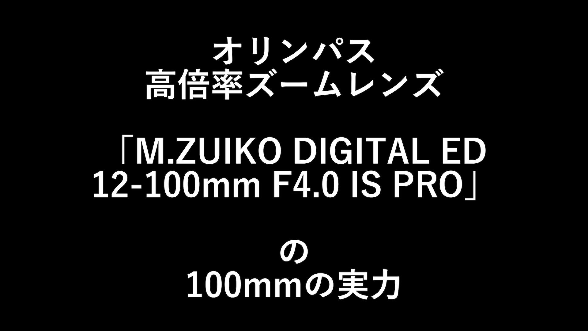 オリンパス「M.ZUIKO DIGITAL ED 12-100mm F4.0 IS PRO」の焦点距離100mmの実力