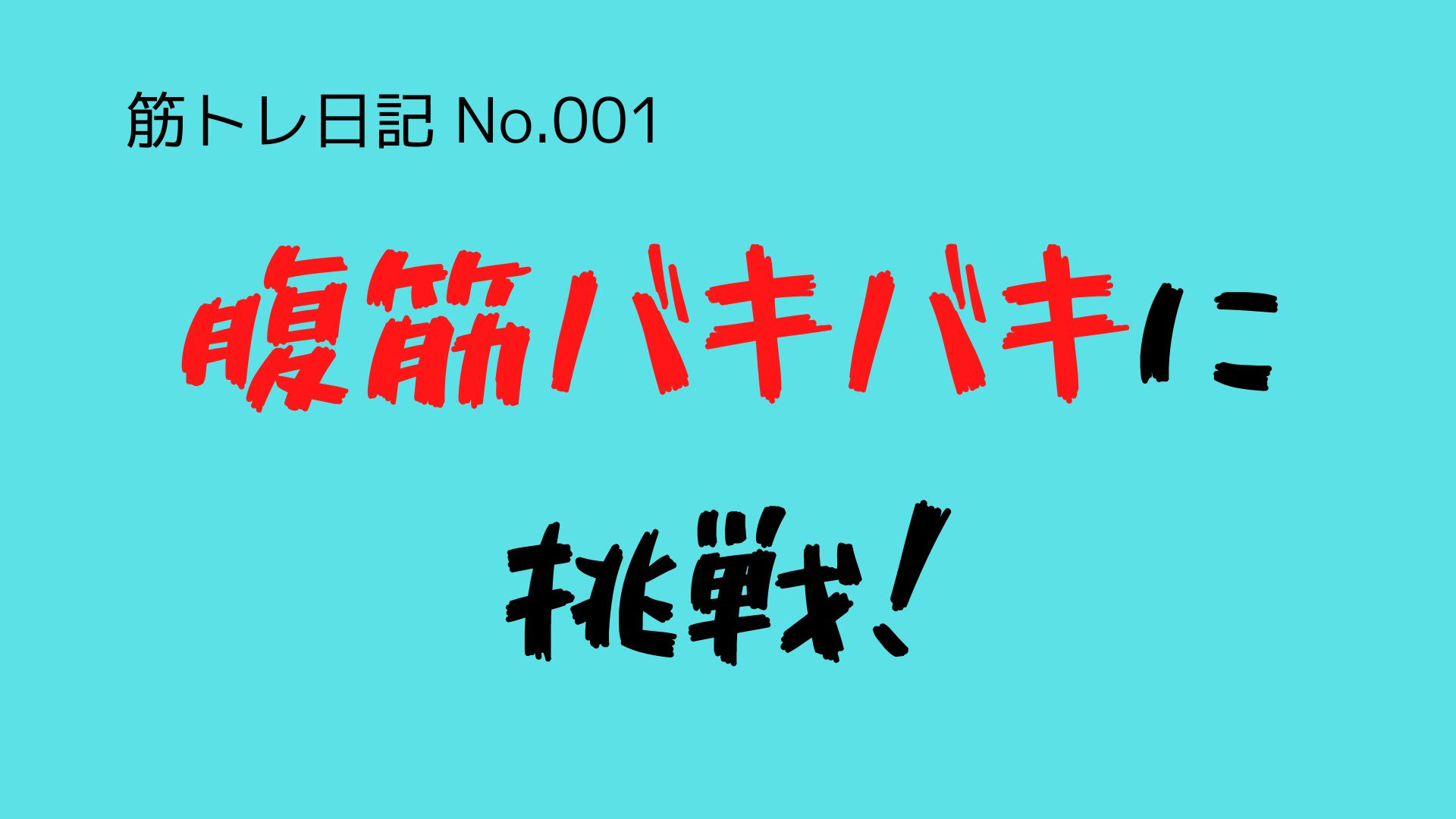 (筋トレ日記-No.001)腹筋をバキバキに割ることに挑戦します!